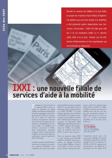 IXXI : une nouvelle filiale de services d'aide à la mobilité - RATP