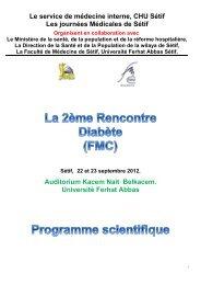 Le service de médecine interne, CHU Sétif Les ... - Santé Maghreb