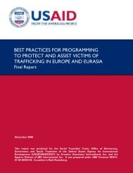 best practices for programming to protect and assist victims of ...
