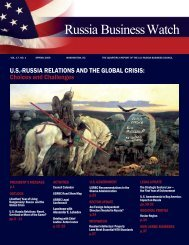 Volume 17, Number 1 - US-Russia Business Council