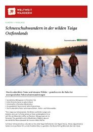Schneeschuhwandern in der wilden Taiga ... - Weltweitwandern