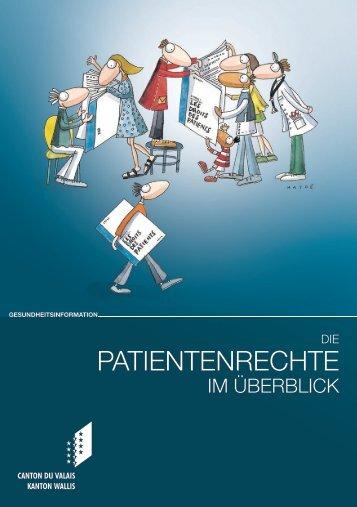 Die Patientenrechte im Überblick - Hôpital du Valais