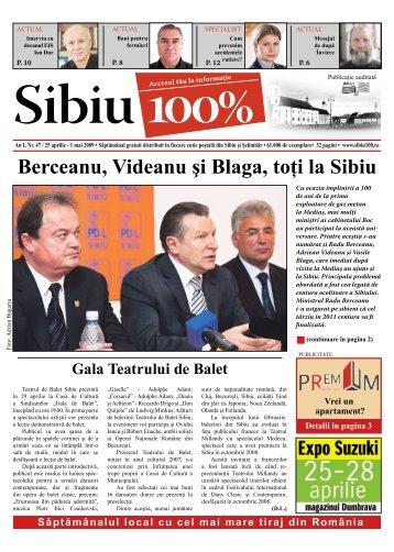 Berceanu, Videanu şi Blaga, toţi la Sibiu - Sibiu 100