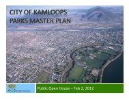 Parks Master Plan Open House Presentation - City of Kamloops