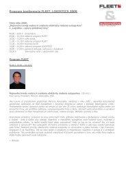 Program konferencie FLEET - iHNed