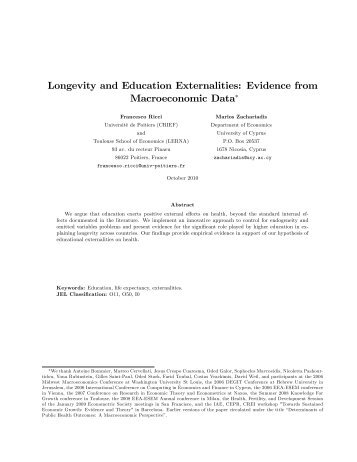 externalities of education Externalities are costs or benefits that go to a third party how do externalities affect equilibrium and create market failure for education.