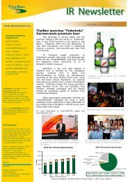 IR Newsletter Vol. 6/2008 - Thai Beverage Public Company Limited