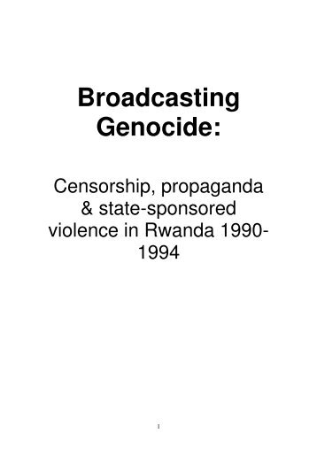 Broadcasting Genocide: - Article 19