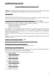 Conseil Municipal du 22 novembre 2012 - Pageas