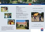 Informations- und Anmeldeflyer - Jugendbildungsstätte Kurt ...