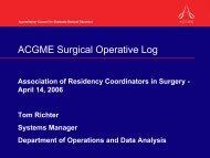 ACGME Surgical Operative Log - Association of Program Directors ...