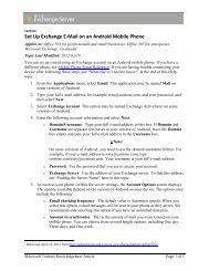 Set Up Exchange E-Mail on an Android Mobile Phone