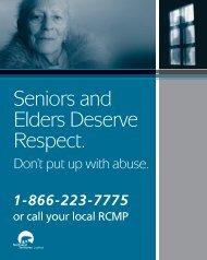 Seniors and Elders Deserve Respect.