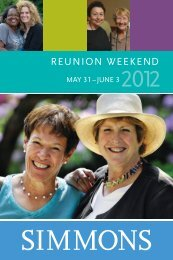 reunion brochure - Simmons College