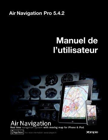 Air Navigation Pro 5.4.2 Manuel de l'utilisateur - Xample
