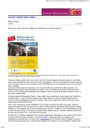 News-Single Alles neu, macht der Mai: Belgischer ... - knowlinx