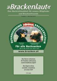 Brackenlaut April - Österreichischer Brackenverein
