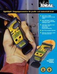 TightSight® Tångamperemetrar för proffs- och industriellt bruk