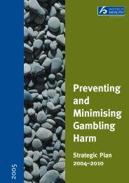Preventing and Minimising Gambling Harm ... - Ministry of Health