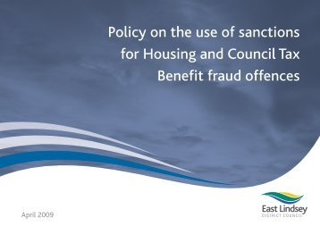 Housing & Council Tax Benefit - East Lindsey District Council