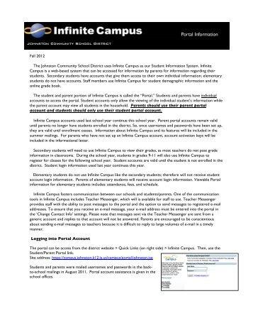 Portal Information - Johnston Community School District