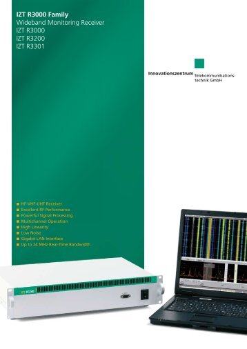 Product Information IZT R3000 561.53 KB - Innovationszentrum für ...