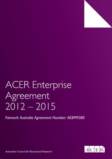 ACER Enterprise Agreement 2012-2015