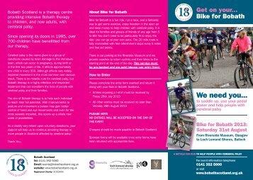 Bike for Bobath 2013 - Scottish Canals