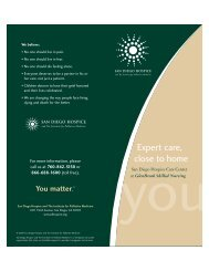 Expert care, close to home - San Diego Hospice and the Institute for ...