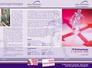 Flyer Fachforum 2006 - Verein ZEITSPRUNG IT-Forum Fulda eV