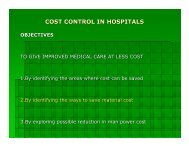 cost control in hospitals objectives - LAICO