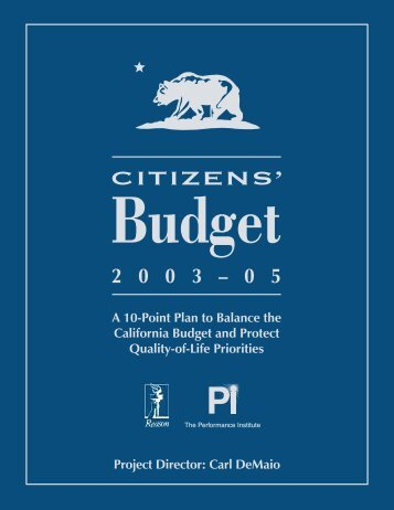 Citizens' Budget 2003-05: A 10-Point Plan - Reason Foundation