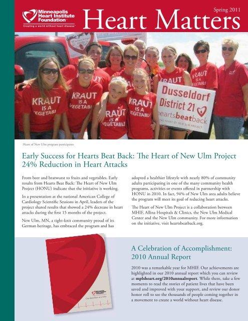 Spring 2011 - Minneapolis Heart Institute Foundation