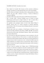 GIUSEPPE CASTALDO - Curriculum vitae (sintesi) - Nato a Napoli il ...