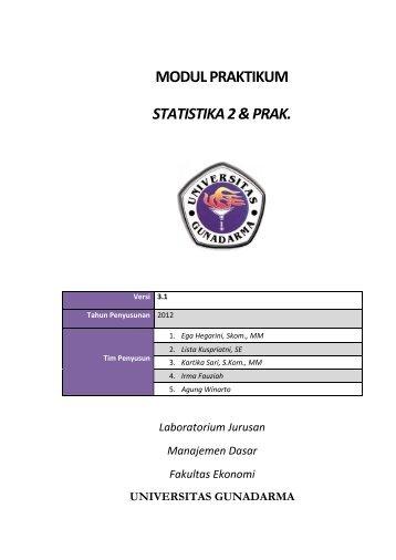 modul praktikum statistika 2 & prak. - iLab - Universitas Gunadarma
