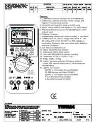 1. Combination precision calibrator and True RMS DMM 2 ...