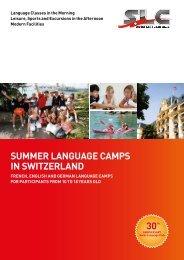 Summer Language CampS in SwitzerLand