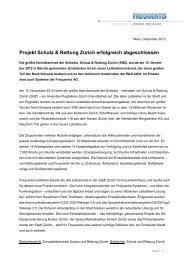 Projekt Schutz & Rettung Zürich erfolgreich ... - Frequentis