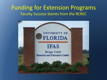 Funding for Extension Programs