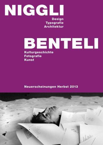 Neuerscheinungen Herbst 2013 Kulturgeschichte ... - Niggli Verlag