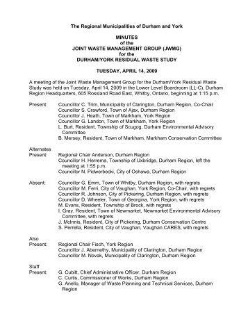 Meeting Summary Pdf Durham York Residual Waste Study