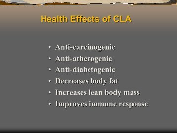 Health Effects of CLA - Office of Dietary Supplements
