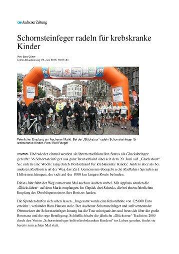 Bericht der AZ als PDF-File - Schornsteinfeger-Innung Aachen