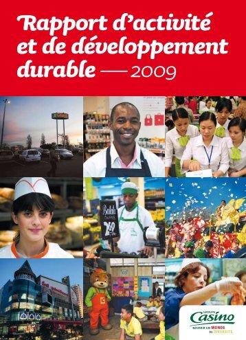 Rapport d'activité et de développement durable ... - Groupe Casino
