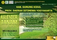 Kalender Tanam Gunungkidul - BPTP Yogyakarta