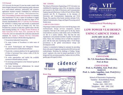 Low Power Vlsi Design Using Cadence Tools Vit University
