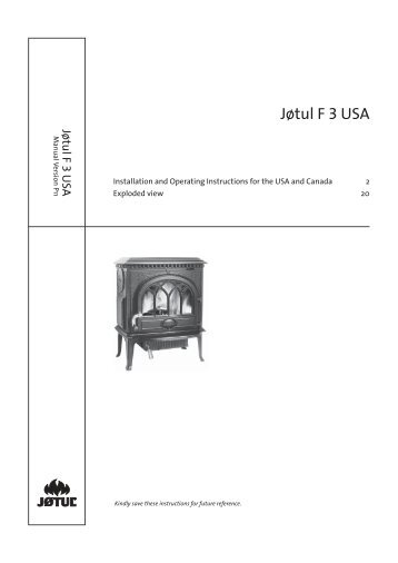 Manual - Jøtul stoves and fireplaces
