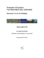 Transumo A15 project Van Maasvlakte naar ... - Transitiepraktijk