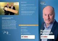 Infoflyer Hartmut Hamerich