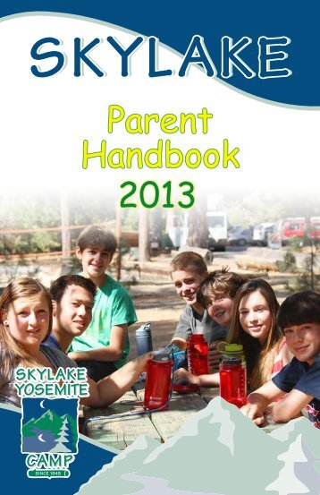 Parents Handbook - Skylake Yosemite Camp
